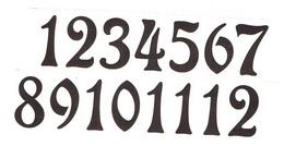 Èísla na hodiny nalepovací-ozdobná v.1,9cm TM.HNÌDÁ