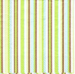 OS 010 - ubrousek 33x33 - proužek zeleno-hnìdý