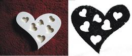 Razítko srdce-prořízlá srdíčka v. 5,7x6,7cm - zvětšit obrázek