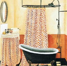 Reprodukce - tisk - béžová koupelna 15x15cm - 0438G