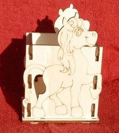 Krabička - stojánek na tužky KONÍK - 10,5x v.15,5x9cm - zvětšit obrázek