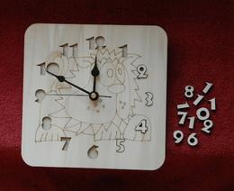 3D hodiny LVÍÈEK 19,5x19,5cm