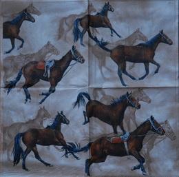 ZV 108 - ubrousek 33x33 - koně - zvětšit obrázek