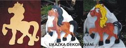 MAXI DEKORACE KONÍK HOLKA - v.34x26cm