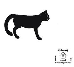 Razítko koèka 1 - v.3,7x7cm