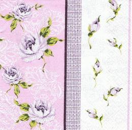 KV 434 - ubr.33x33-patchwork růže fial. - zvětšit obrázek