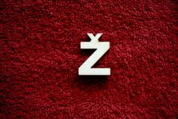 2D výøez písmeno Ž v.cca  2,4cm