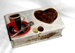 Døevìná krabièka motiv kávièka - 14x8x4cm - zvìtšit obrázek