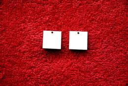 2D výøez naušnice ètverec 1,8x1,8cm