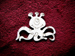 2D výøez mimozemská chobotnice v.6x8cm