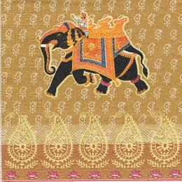 ET 022 PPD - ubrousek 33x33 - etno èerný slon-balení 20ks