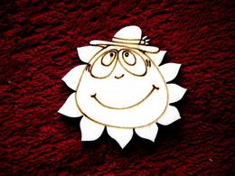 2D výøez sluníèko kluk- pr.cca5,4cm