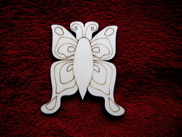 2D výøez motýlek è.2 - v.10x8,5cm