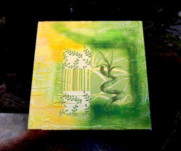 Obrázek bambus PLÁTNO 20x20cm è.2