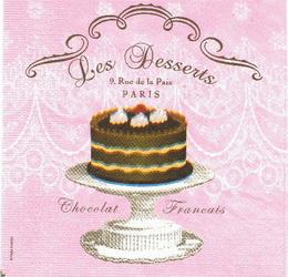KM 003 PPD - ubrousek 33x33 - les desserts