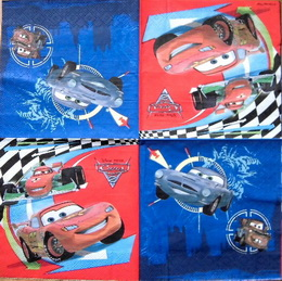 DE 007 - ubrousek 33x33-auta cars