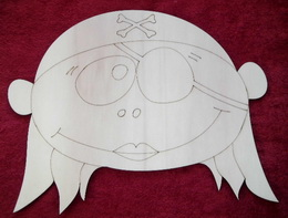 MAXI dekorace hlava holèièky námoønice-v.24x30cm