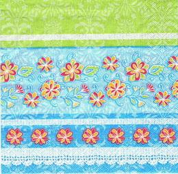 OS 016 - ubrousek 33x33 -zeleno-modrý mix
