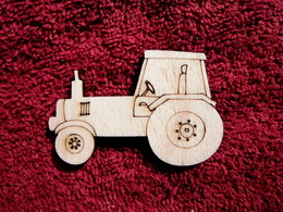 2D výøez traktor - v. 4,3x6,5cm