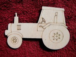 2D výøez traktor - v. cca 7,4x11,3cm