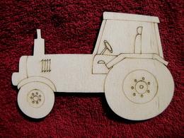 2D výøez traktor - v. cca  9,8x14,5cm