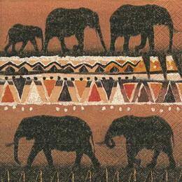ET 009 - ubrousek 33x33 - etno sloni - zvětšit obrázek