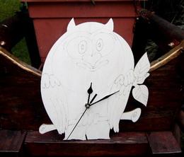 2D hodiny SOVA čisté - v. cca 26,5x23,5cm - zvětšit obrázek