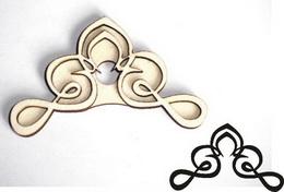 Razítko pøekližka rohový ornament-v.6x6cm - zvìtšit obrázek