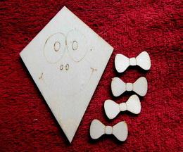 2D výøez drak s mašlièkami-v.9x6cm