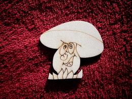 2D výøez houba s trávou+oblièej-v.6x6cm
