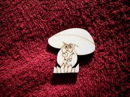 2D výøez houba s trávou+oblièej-v.5,5x5cm
