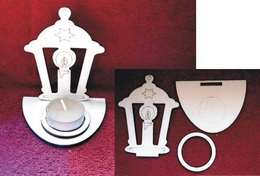 Stojánek na èajovou svíèku lucerna-v.10,8x8,4cm