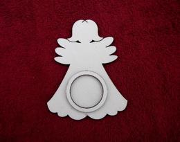 Stojánek na èajovou svíèku andìl jed.-v.12,7x11,7cm