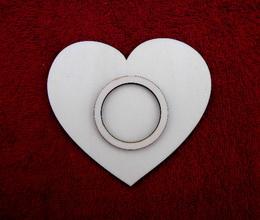 Stojánek na èajovou svíèku srdce jed.-v.10,4x11,6