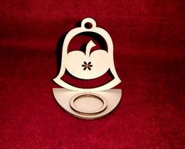 Stojánek na èajovou svíèku zvon+jablíèko