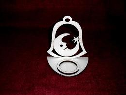 Stojánek na èajovou svíèku zvon+mìsíèek