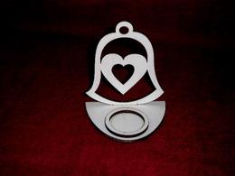 Stojánek na èajovou svíèku zvon+srdce