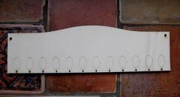 *2D výøez deska oblouèek k rod.kalendáøi- 10x33,6cm