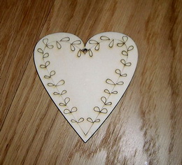 Srdíèko ornament jedn. - 10,8x10,2cm
