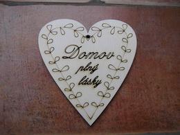 2D výøez srdce Domov plný lásky 13,8x13,1cm