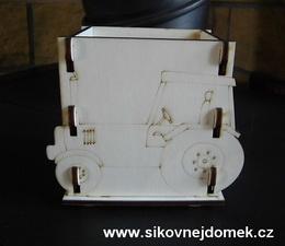 Krabièka-stojánek na tužky traktor v.11,5x13,5x9cm