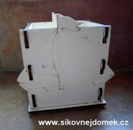 Krabièka-stojánek na tužky loïka v.12,5x12,5x9cm
