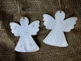 Ozdoba dekor andílek hvìzdièka- velikost cca 8x7cm