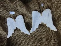 Ozdoba dekor andìlská køídla, puntík- velikost cca 8x9,5cm