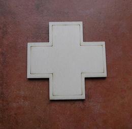2D výøez køíž k lékárnièce vel.cca 5,5x5,5cm-èistý