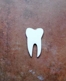 2D výøez zub èistý - 4x2,5cm