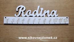 *2D výøez deska+nápis Rodina+èísla -10x33,5cm