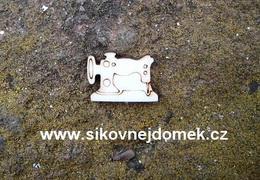 2D mini výøez šicí stroj v. 1,4x1,9cm