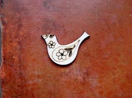 2D výřez ptáček č.2- cca v.3,4x4,7cm - zvětšit obrázek