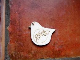2D výřez ptáček s větvičkou -v.4,3x4,8cm - zvětšit obrázek